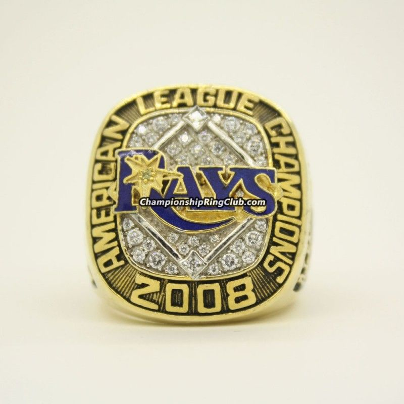 2008 Tampa Bay Rays American League Championship Ring Tampa Bay Rays Championship Rings Tampa Bay