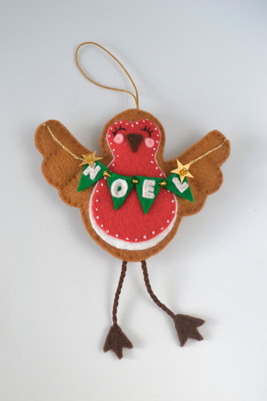 Felt robin, chirstmas gift, tree ornament, christmas robin