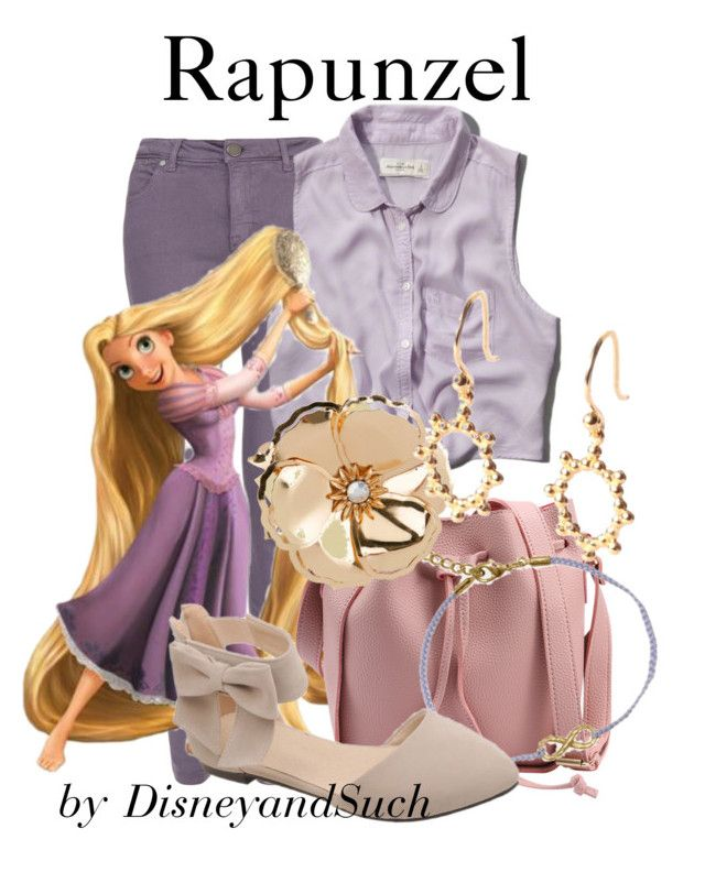 """Rapunzel"" by disneyandsuch ❤ liked on Polyvore featuring dVb Victoria Beckham, Abercrombie & Fitch, BillyTheTree, New Look, Agnes de Verneuil, disney, disneybound, tangled and WhereIsMySuperSuit"