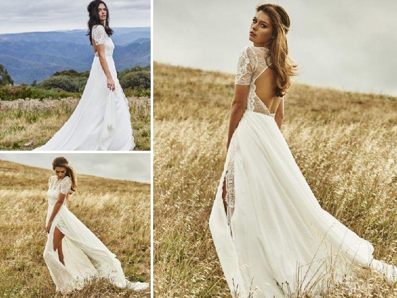 vestidos de novia para casarte en verano espaldas descubiertas y