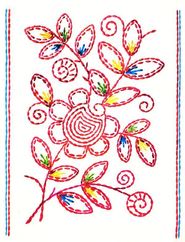 Вышивка тамбурный шов картинки