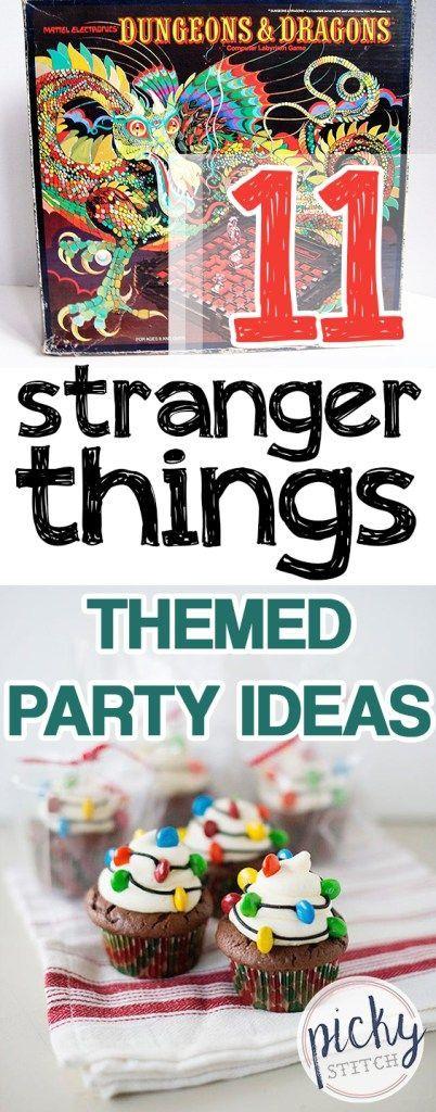 11 Stranger Things Themed Party Ideas Stranger things
