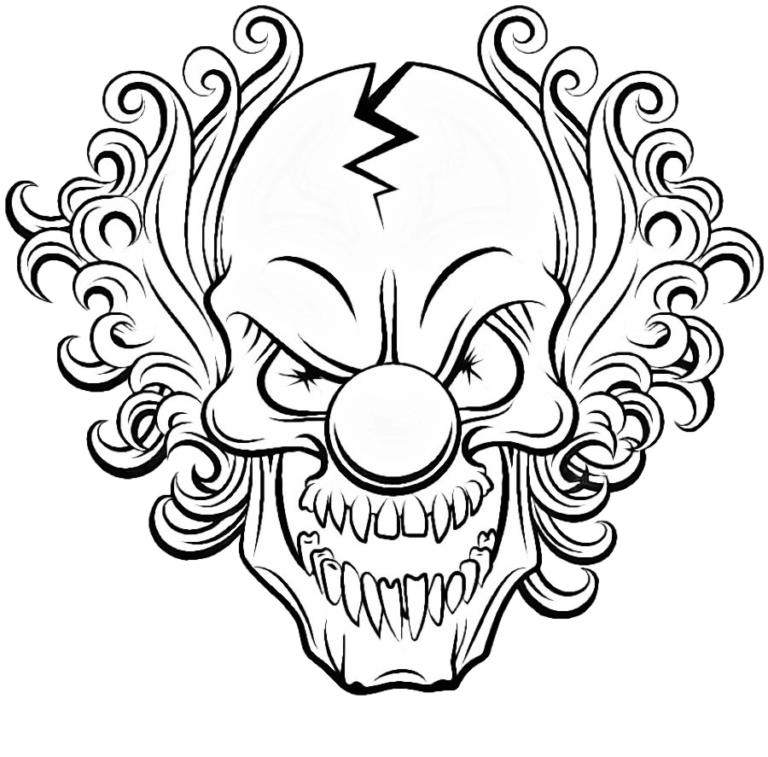 41++ Creepy clown coloring pages ideas