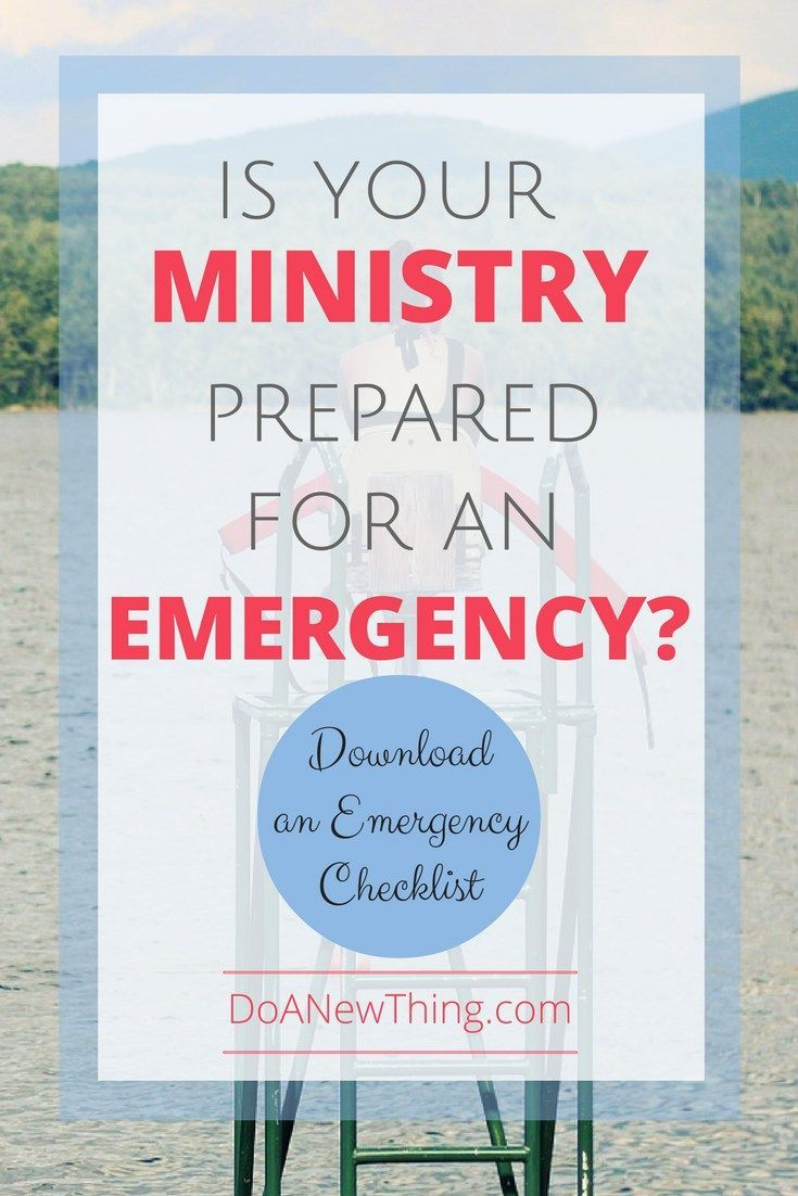 What would happen to your ministry if something happened to you? There are three levels of preparation that every ministry leader should make for the unexpected ... even (or especially) if your ministry is only you.