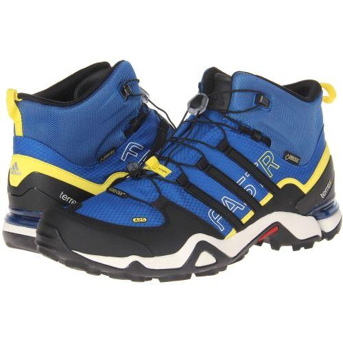 Adidas Outdoor Terrex Fast R Mid GTX Boots Men Blue Beauty / Black / Vivid Yellow