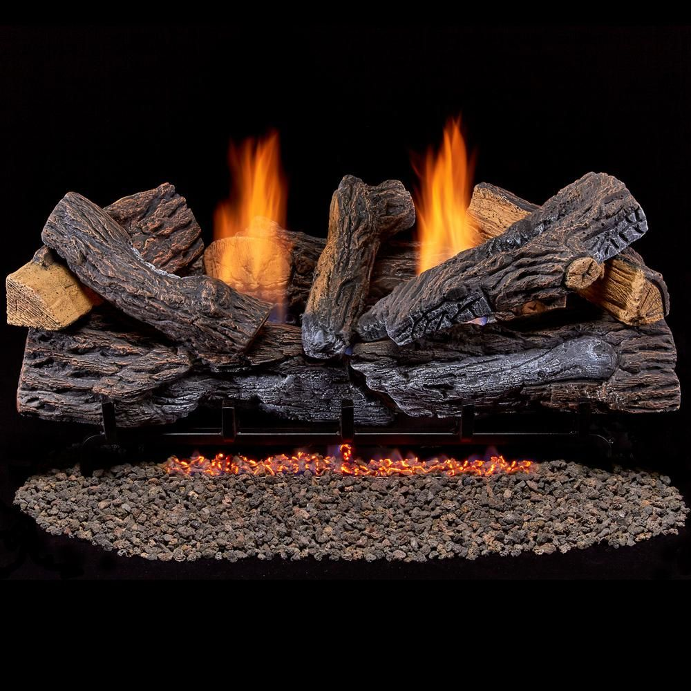 Duluth Forge Split Red Oak 30 In Vent Free Gas Fireplace Logs