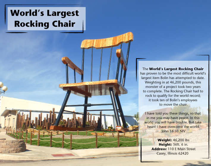 Casey Il Worlds Largest Wind Chimes Rocking Chair Golf Tee