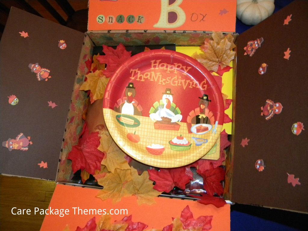 Thanksgiving Snack Box Care Package - Care Package Themes .com