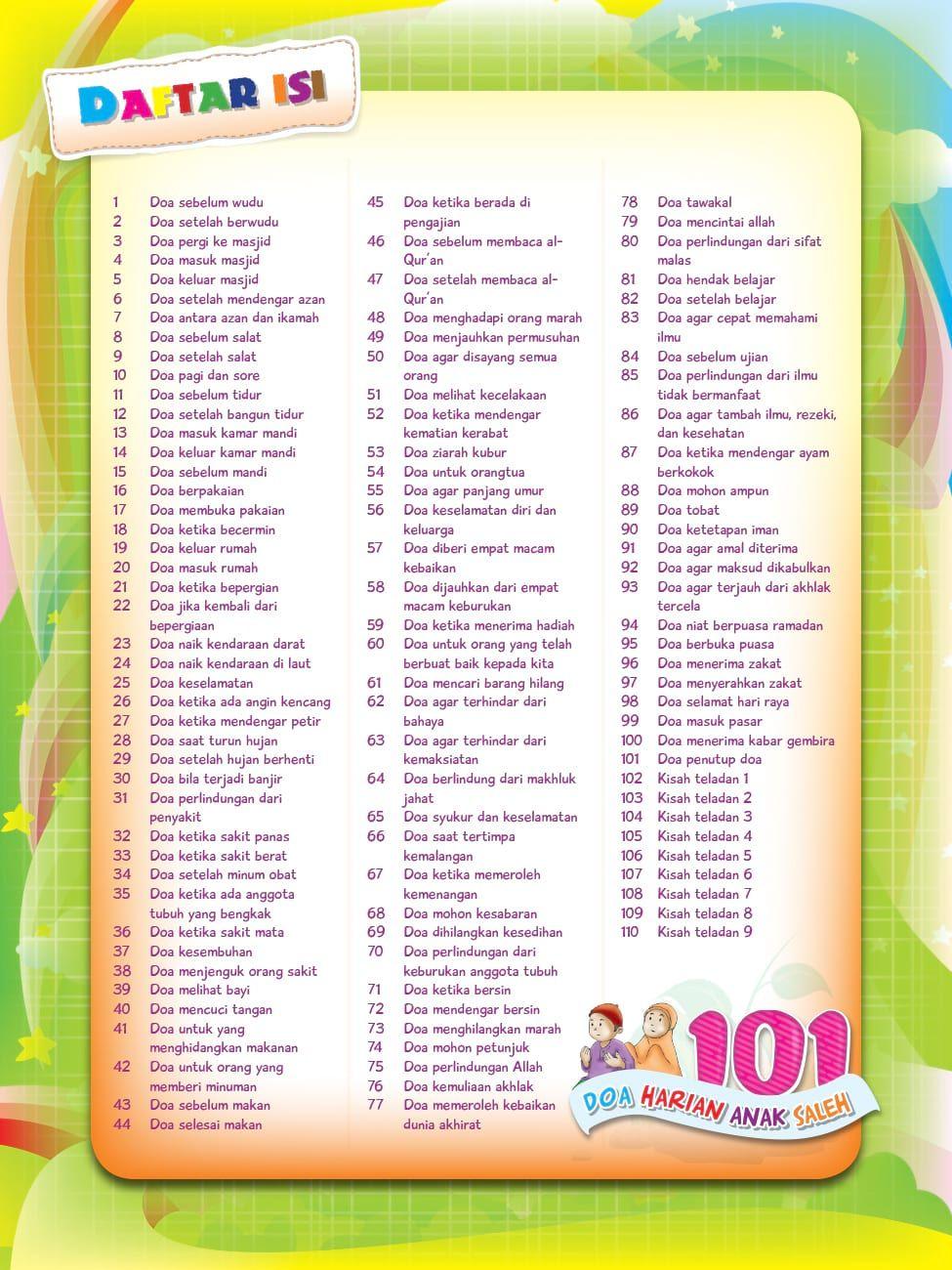 Buku Pintar Super Lengkap 101 Doa Harian Anak Soleh Buku