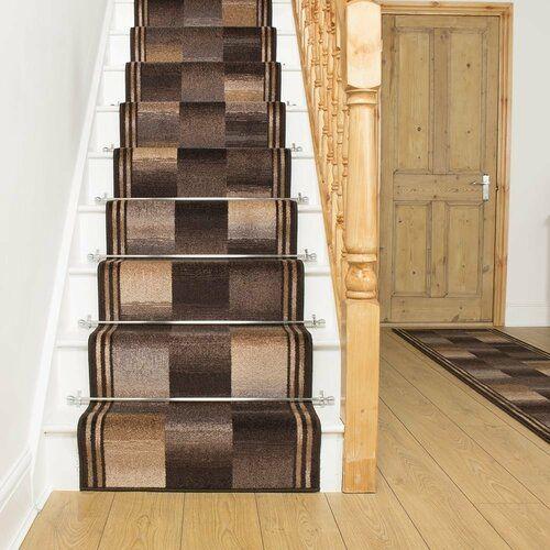 Best Almeida Twist Pile Brown Stair Runner Rosalind Wheeler Rug 400 x 300