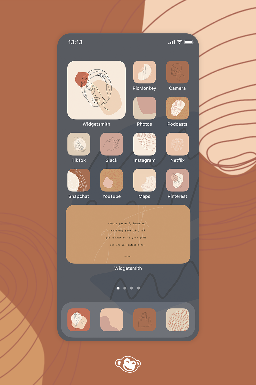 Ios 14 Home Screen Ideas Make Aesthetic Backgrounds Picmonkey Homescreen Free Handwritten Fonts Screen