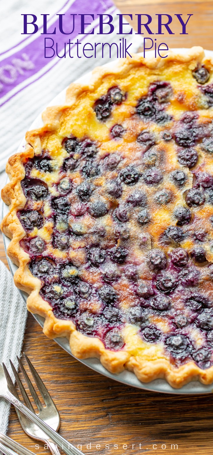 Blueberry Buttermilk Pie Recipe Buttermilk Pie Blueberry Recipes Desserts