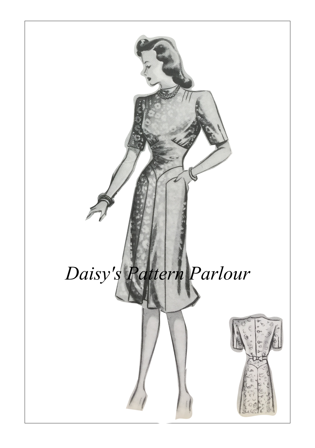 Vintage Sewing Pattern Dress Daisys The Haslam System Tea Afternoon ...