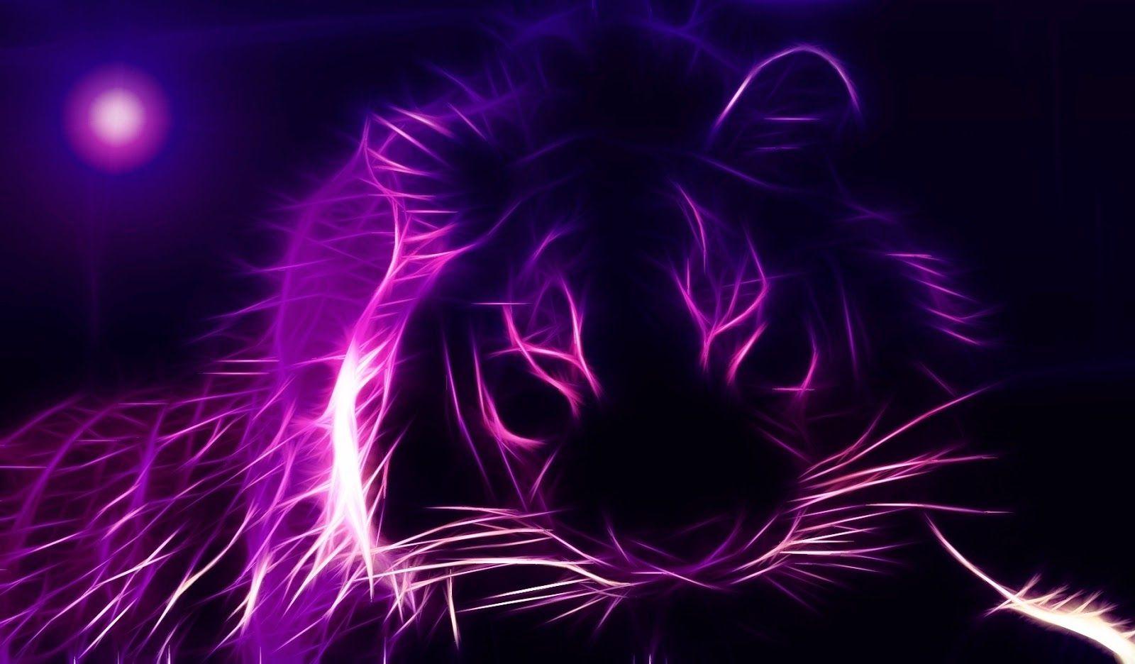 Black Purple Lion Paars Behang Paarse Achtergronden Dieren Mooi