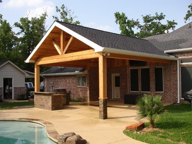 cedar patio cover Patio makeover, Backyard patio designs
