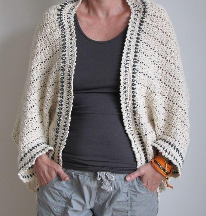 Jacke Cardigan Als Viereck Gehäkelt Häkelanleitung Via Makerist