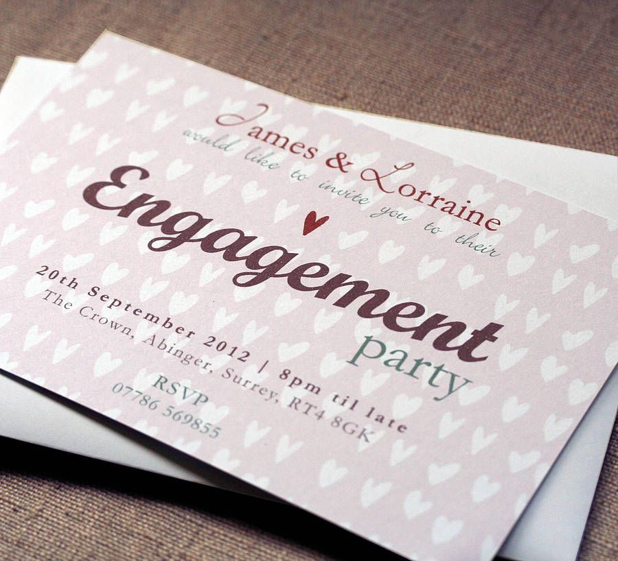 Personalised Engagement Party Invitation | Engagement party ...