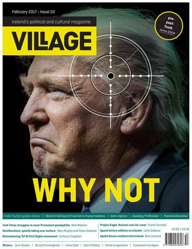 This front-page of an Irish political magazine