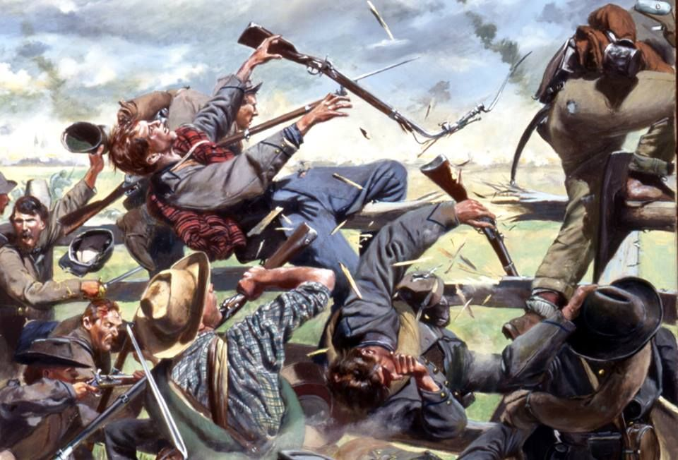 Gettysburg 4 July, 1865 Union batteries now punished