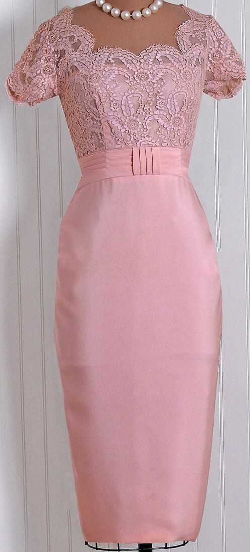Pretty in Pink with Pearls! | Vintage fashions | Pinterest | Madres ...