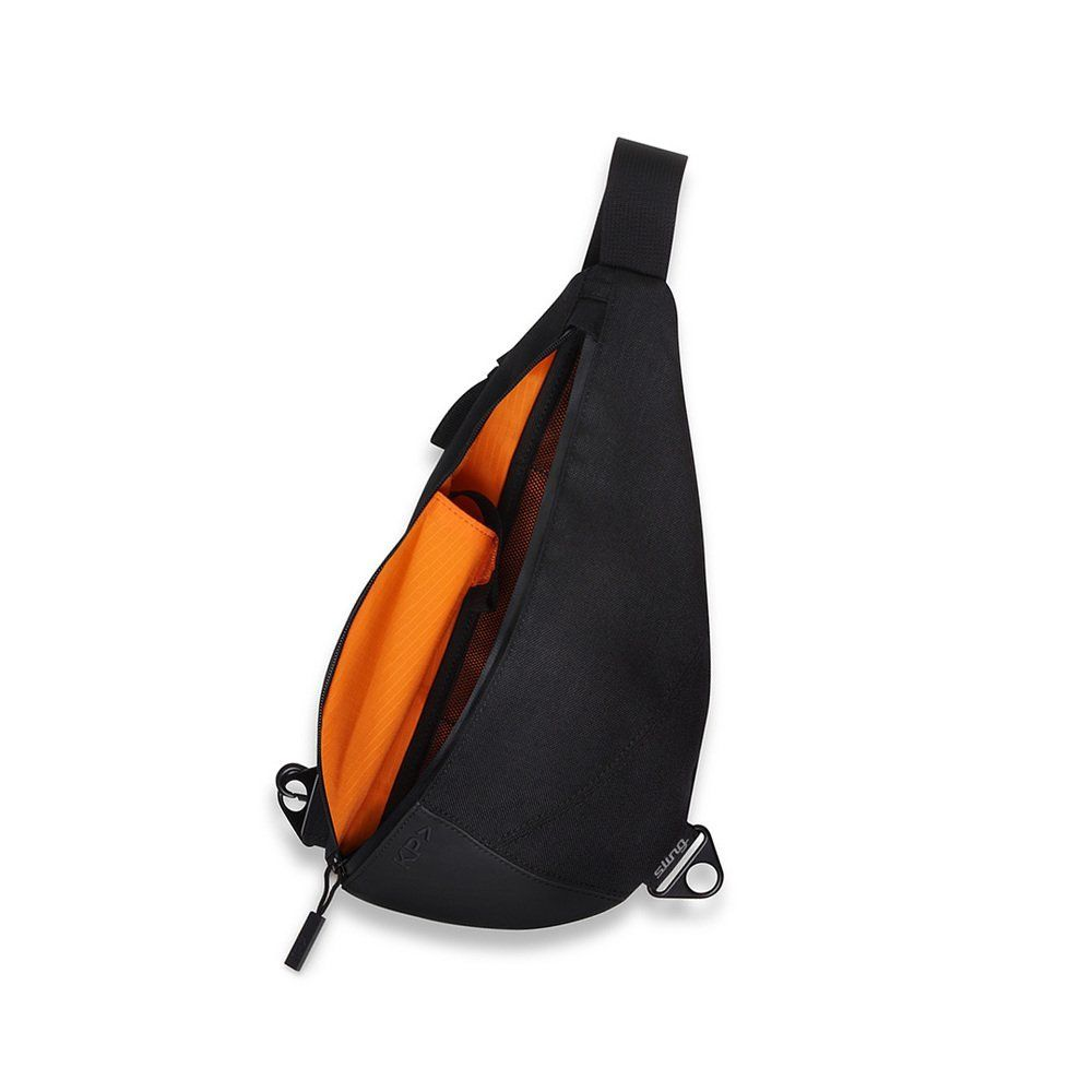 KEEP PURSUING KP Sling Bag Jet Black with Orange | Bags and Slings ...