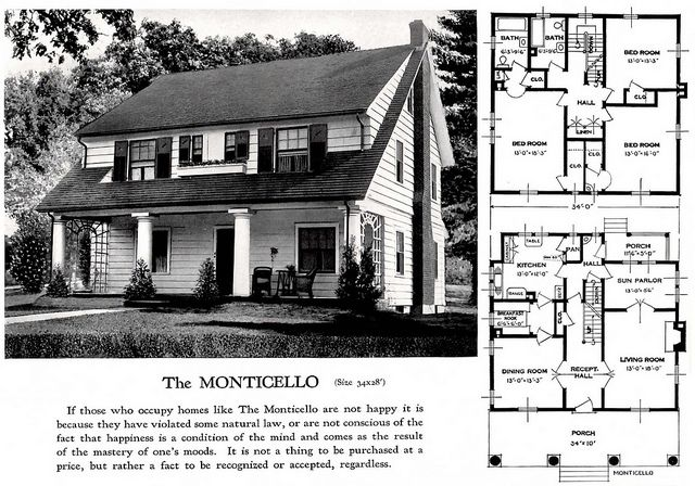 The Monticello from Standard Home Plans.  There is one in Crescent Hills in Hopewell, Va.