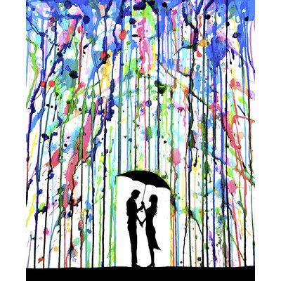 JaxsonRea ''Pour Deux'' by Marc Allante Painting Print on Wrapped Canvas | Wayfair