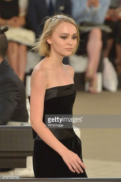 Lily-Rose Depp attends the Chanel show as part of Paris ...