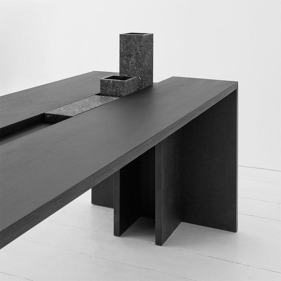 Modern Furniture Dark Wood Table Desk Fausto Mazza