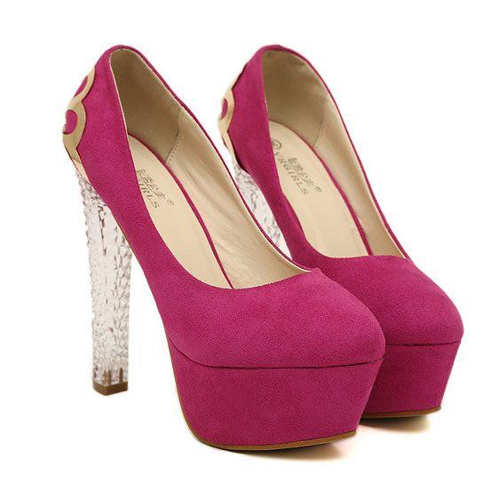 European Style Elegant Metallic High-heeled Shoes