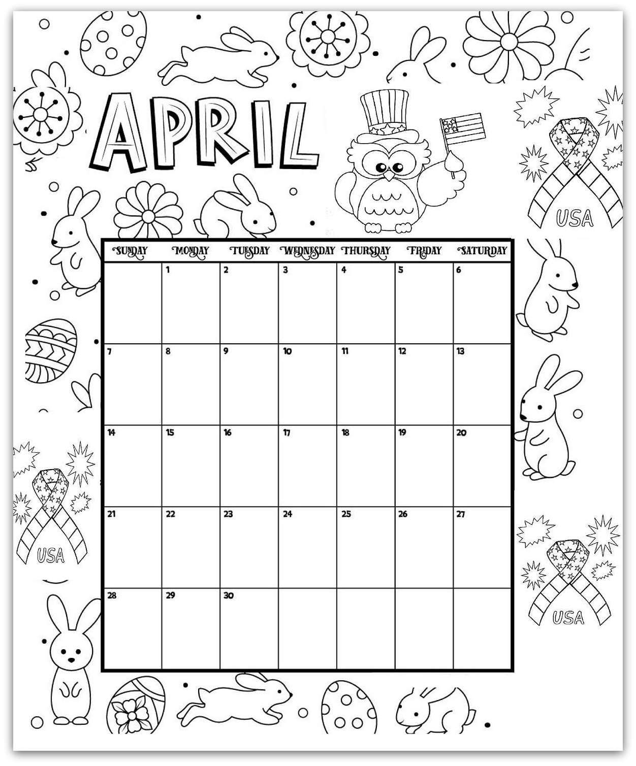2019 Coloring Pages Printable Monthly Calendars For Kids Calendarbuzz Coloring Calendar Kids Calendar Calendar Pages