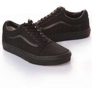 vans shoes all black