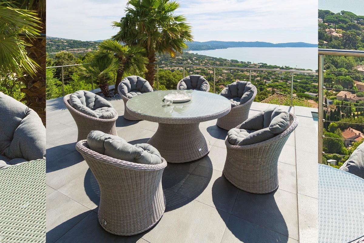 Mesa Manille - HESPERIDE | Balcony ideas | Outdoor furniture sets ...