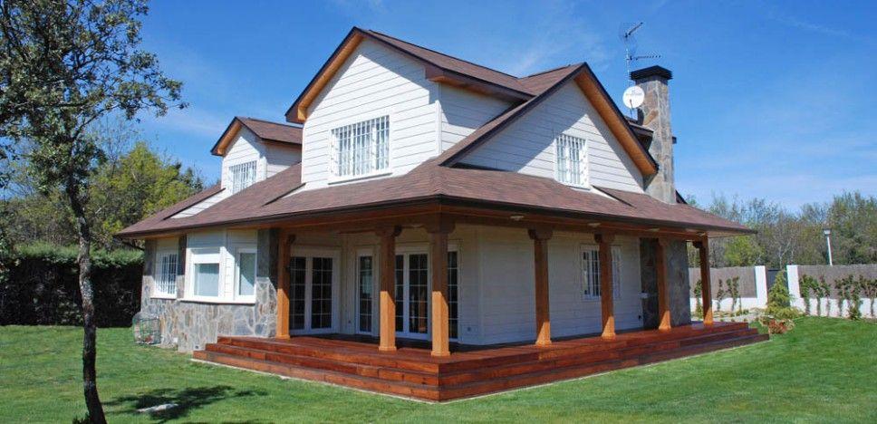 Casa winisk casas pinterest casa de madera casas de for Fachadas de casas con porche