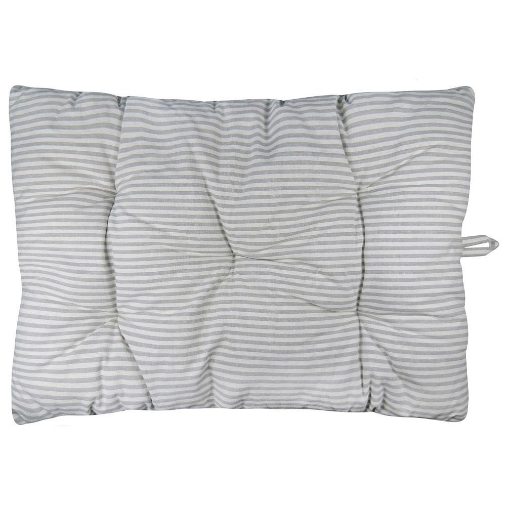 Park B Smith Metro Farmhouse Ticking Stripe Ny Pet Futon Pillow Grey