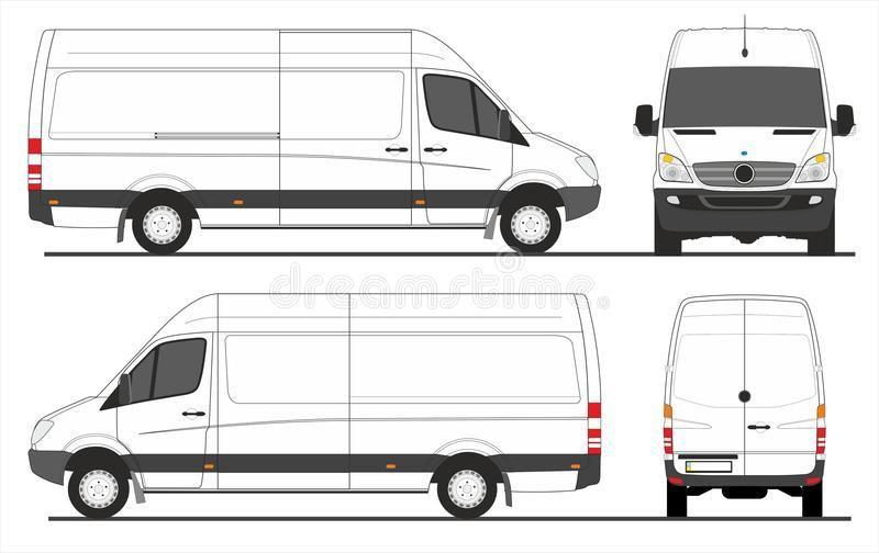 Mercedes Sprinter Van Lwb Sprinter Van Long Wheelbase In Scale 1