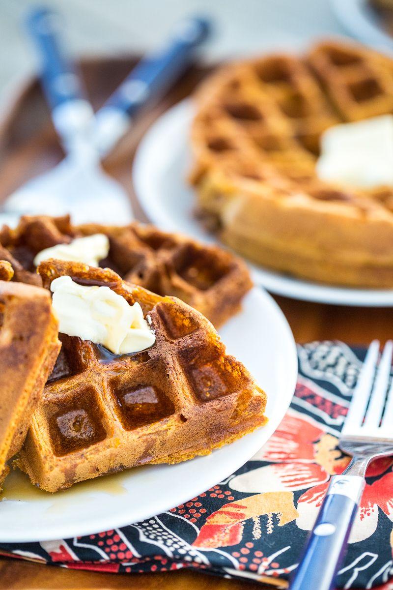 GlutenFree, Vegan Pumpkin Spice Waffles Recipe Vegan