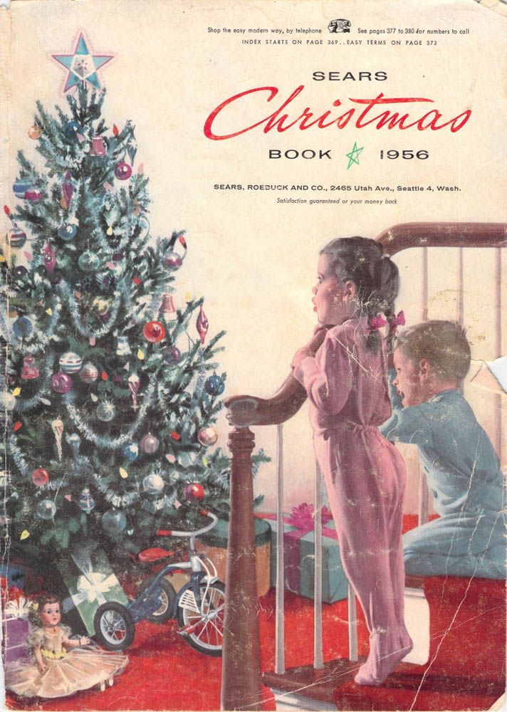 Christmas Catalogs.1956 Sears Christmas Catalog 1950s Christmas Christmas