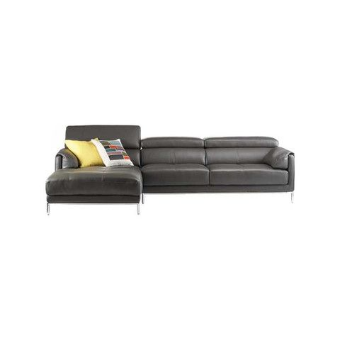 Kasala   Modern Leather Sectional With Adjustable Headrests   Furniture  Seattle
