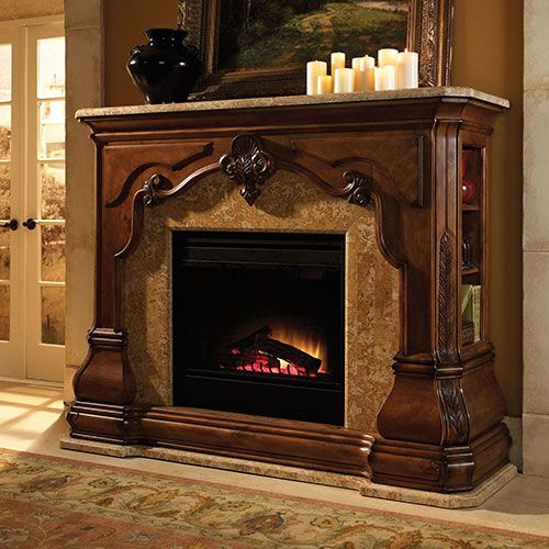 Fireplaces michael amini furniture designs for Bedroom electric fireplace