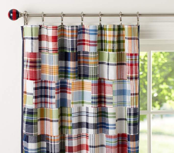 Madras Blackout Curtain With Images Nursery Curtains