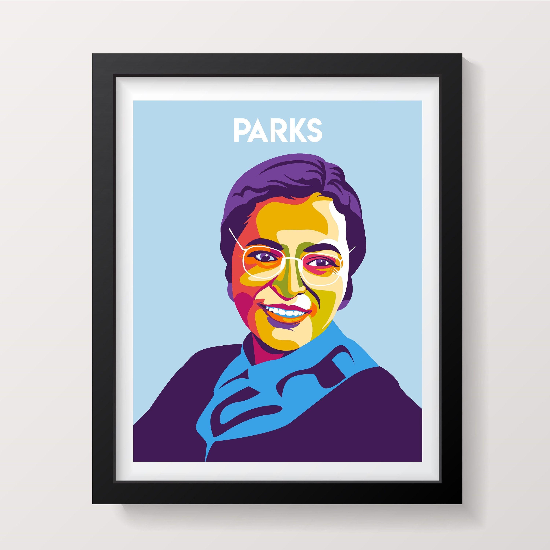 rosa parks poster famous women poster