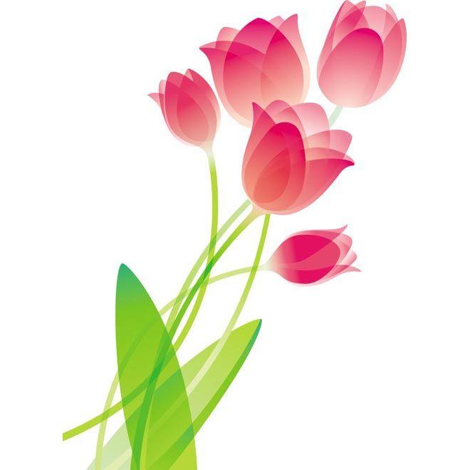pink glossy tulip flower bouquet vector art illustration free rh pinterest com free vector flower arramgement free vector flower border