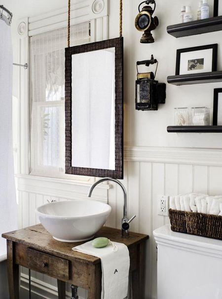 Renovation Inspiration Using Vintage Furniture As Bathroom Sink