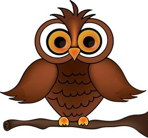 Owl Clipart Image Wise Old Cartoon On A Tree Branch