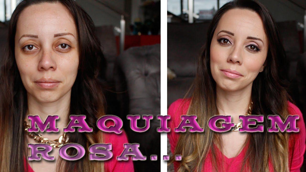 Fique Mais Linda: Tutorial: Maquiagem rosa com esfumado marrom para olhos castanhos Saiba Mais em http://dicasdemaquiagem.vlog.br/tutorial-maquiagem-rosa-com-esfumado-marrom-para-olhos-castanhos/