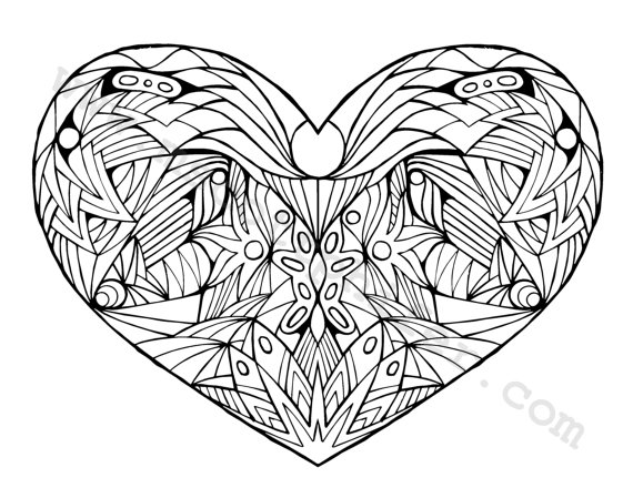 Coloring Pages For Adults Hearts Coloring Pages