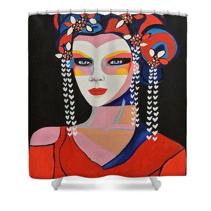 Geisha Sukiyaya Shower Curtain For Sale By Lee Wilde