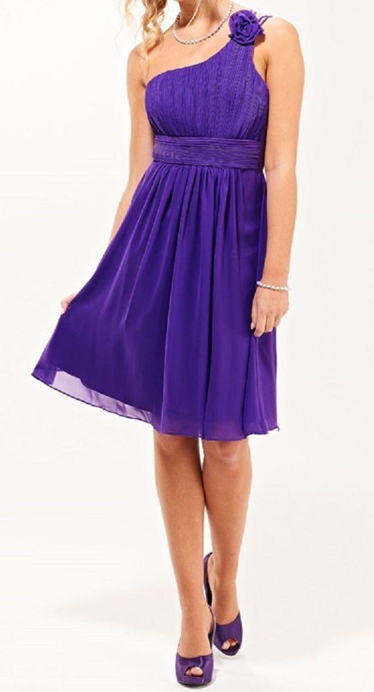 Shades Of Purple Grecian Cadbury Purple Chiffon Bridesmaid*Evening ...