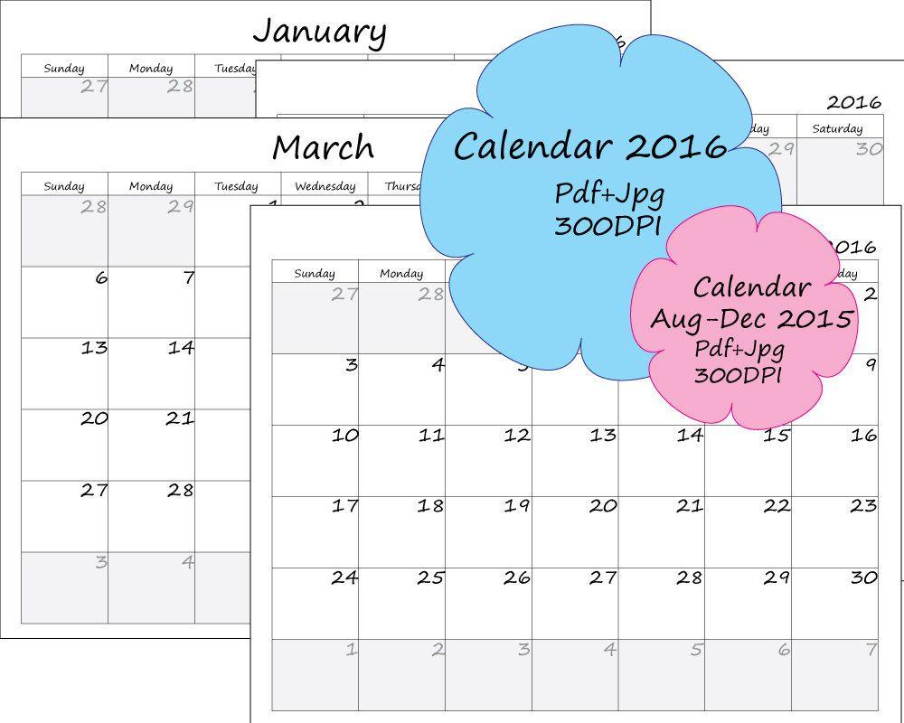printable calendar 2016 ready to print calendar calendar 2015